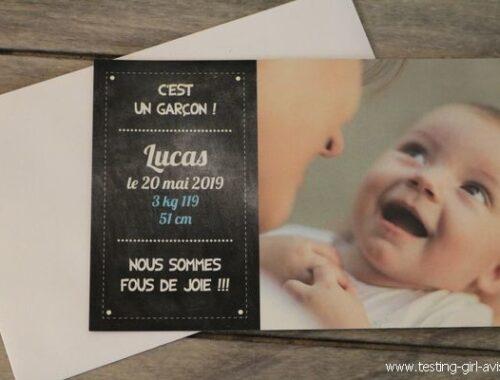 Faire-part de naissance magnet - Popcarte