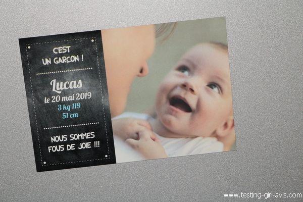Faire-part de naissance magnet - Popcarte - Description