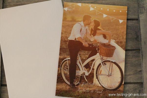 Magnet - remerciement mariage - Popcarte