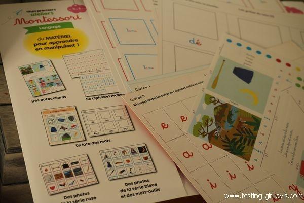 Mes premiers ateliers Montessori - Fiches cartonnées - Matériel