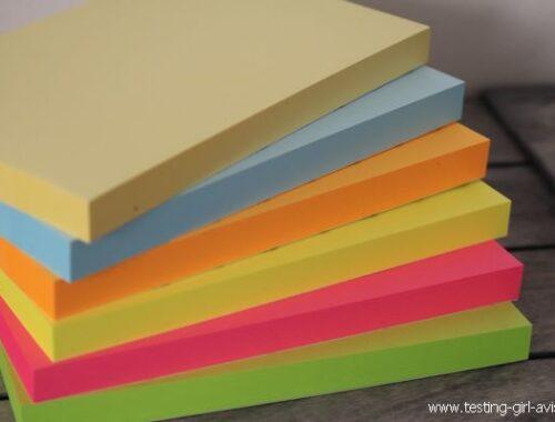 Bloc Post-It adhésives 6 couleurs AmazonBasics