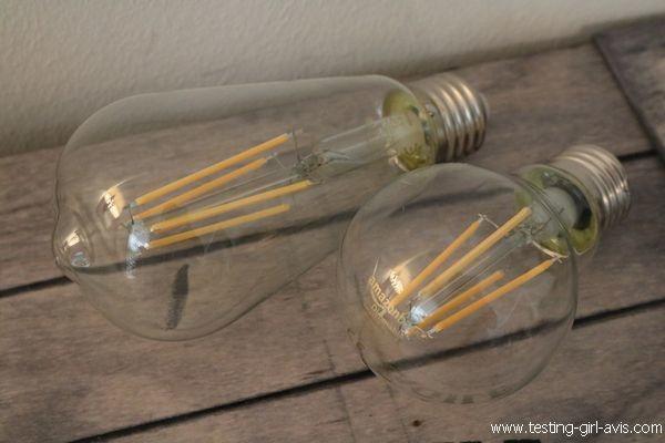 Ampoule LED E27 filament Edison AmazonBasics
