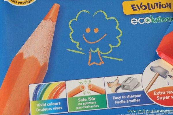 Coloriage BIC Kids - Crayons Evolution