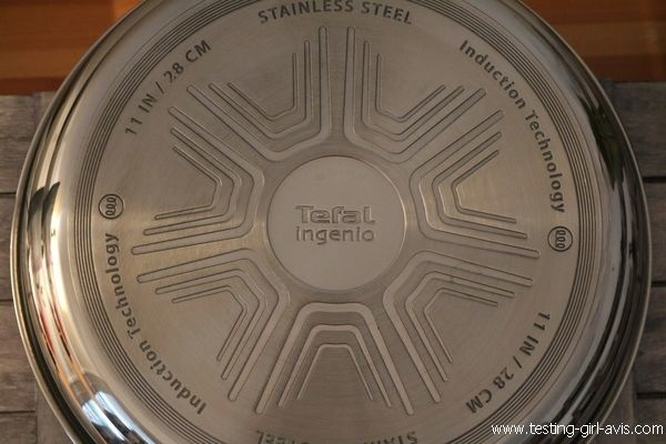 Poele Tefal Inox manche amovible - Ingenio Pro Inox - Technologie Techno-dome