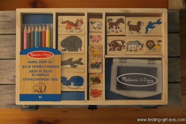 Tampon encreur enfant - idée d'activité - Melissa & Doug - Le Coffret