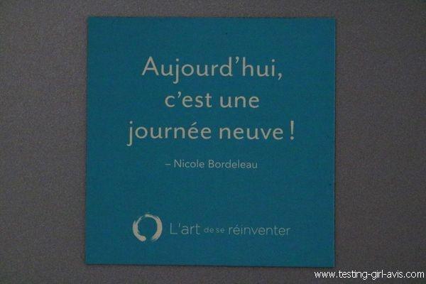 Aujourd'hui c'est une journée neuve ! Nicole Bordeleau
