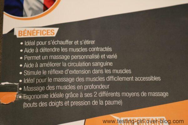 Le rouleau de massage Fitness Active Pro