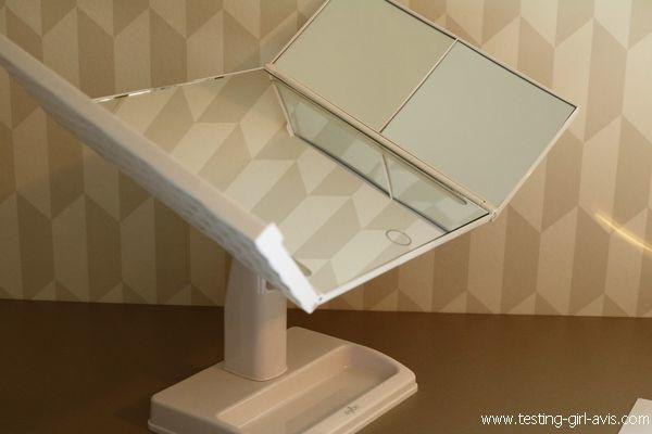 miroir salle de bain LED Anjou - miroir inclinable