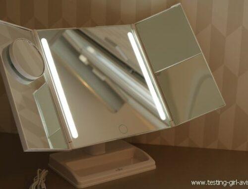 Miroir salle de bain LED sur pied Anjou - grand miroir triptyque