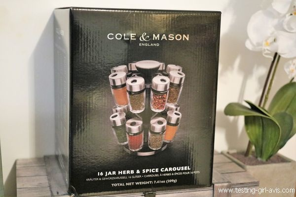 Le carrousel à épices avec16 pots en verre de Cole & Mason - Range épices