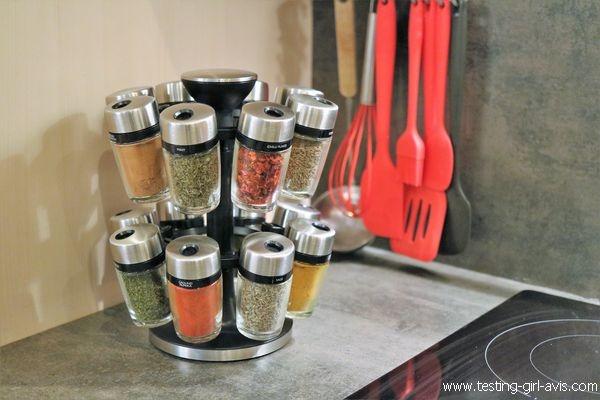 Le carrousel à épices pour des condiments à portée de main - [Rangement épices]