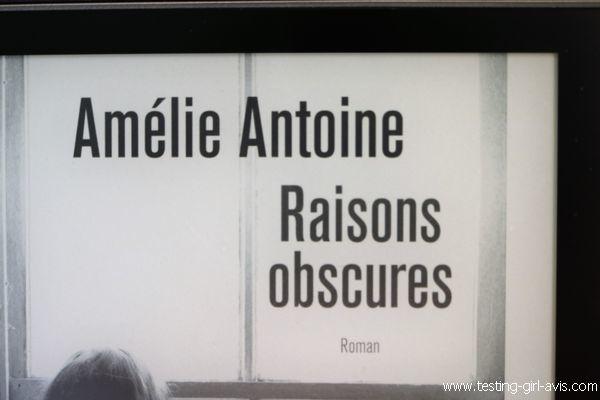 Raisons obscures - L'autrice Amélie Antoine