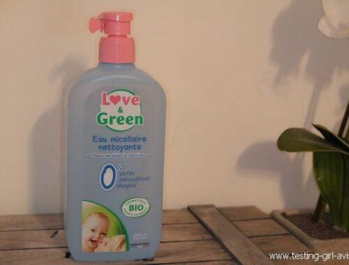 L'eau micellaire nettoyante bio de Love & Green pour maman et bébé !