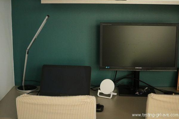 CEP CLED-0117 Lampe LED avec station de chargement sans fil certifiée Qi Métal