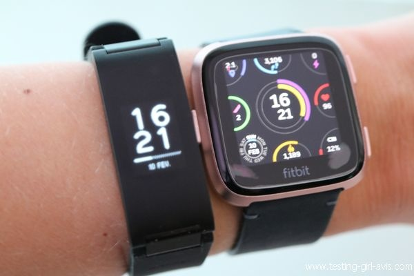 Comparaison Withings Pulse HR - Fitbit Versa