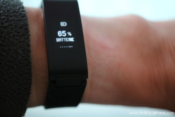 Withings Pulse HR - Affichage batterie restante