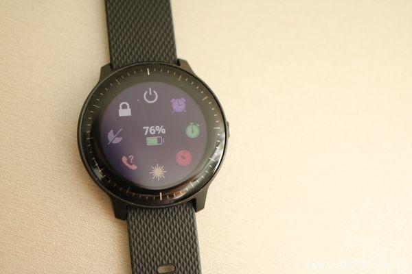 Menus de la montre (paramétrable) sur la Garmin Vivoactive 3