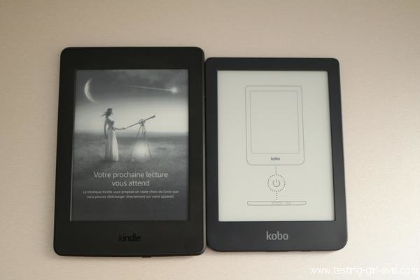 Kindle Paperwhite Vs Kobo clara HD : Même taille d'écran