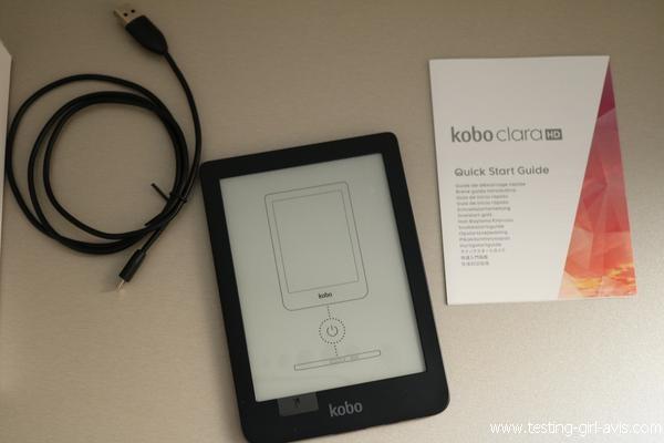 Contenu de l'emballage de la Kobo Clara HD