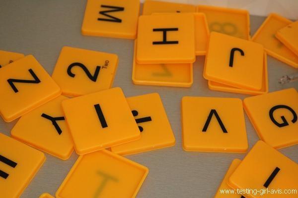 Lettres de l'alphabet et chiffres
