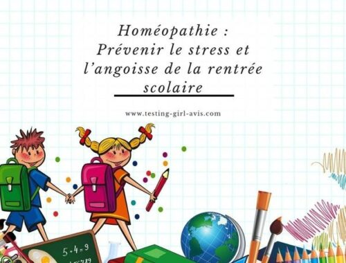 Homéopathie - Stress - Angoisse - Rentrée scolaire