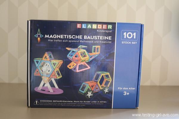 Le jeu de construction magnétique Willilngood 101 pièces - Assemblage construction aimant