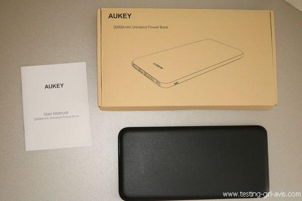 batterie externe 20000mAh Aukey description