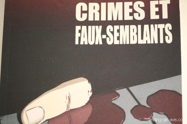 Crimes et faux-semblants de Evelyne Judrin résumé quatrième de couverture