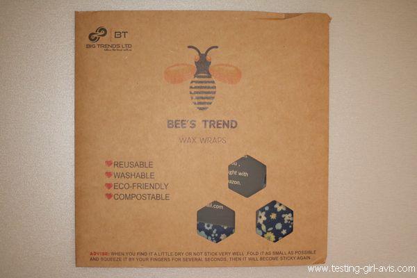 emballages réutilisables à la cire d'abeille