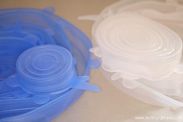 couvercles silicones réutilisables