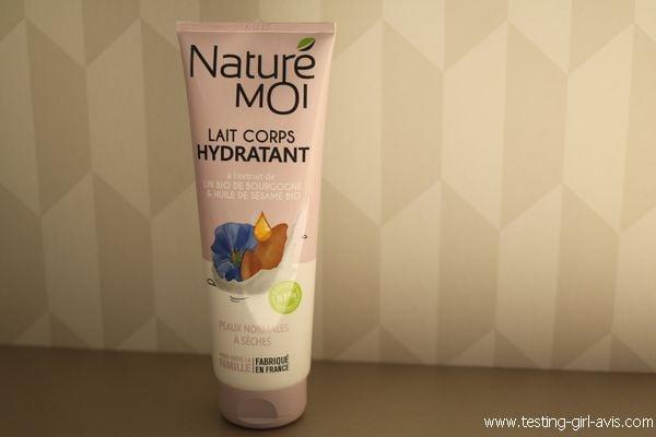 lait corps hydratant peaux normales à sèches Naturé Moi avis