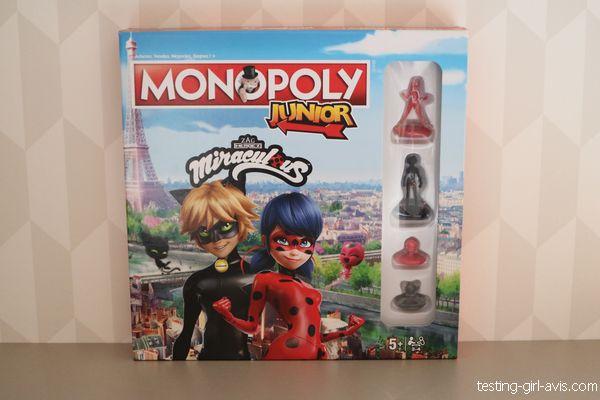 boîte de jeu miraculous monopoly junior