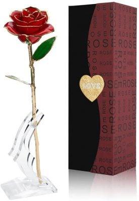 rose éternelle à offrir