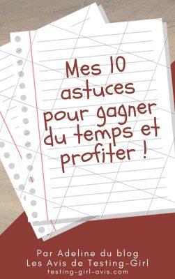 10 astuces pour gagner du temps et profiter - cadeau newsletter