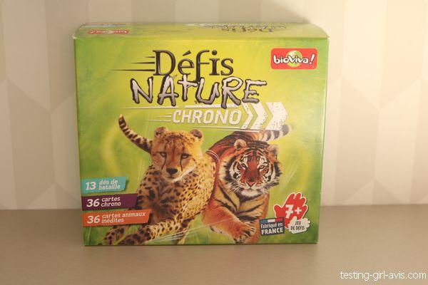 Défis nature chrono de bioviva - la boîte de jeu