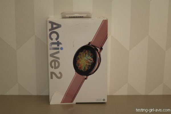 montre Samsung Galaxy Watch Active 2 Rose Acier