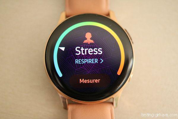 Mesure du stress sur la galaxy watch active 2
