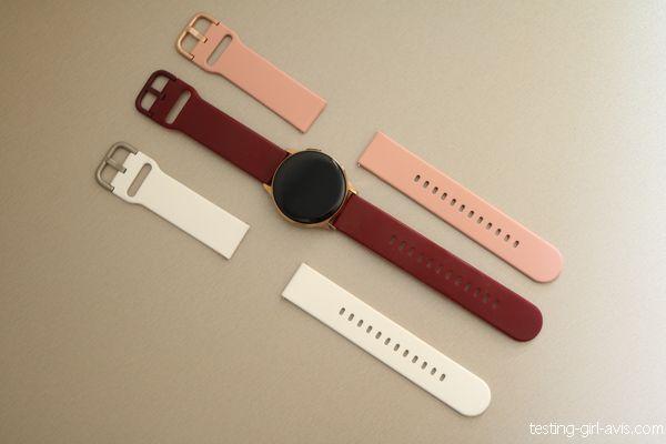 bracelets silicone pour  galaxy watch active 2