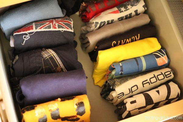 rangement vêtements méthode Marie Kondo