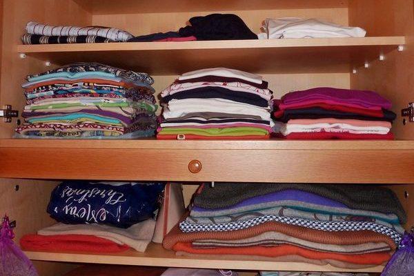 le bonheur d'avoir une armoire bien rangée