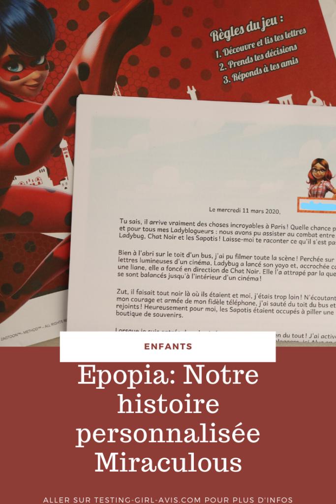epopia miraculous histoire personnalisée Pin