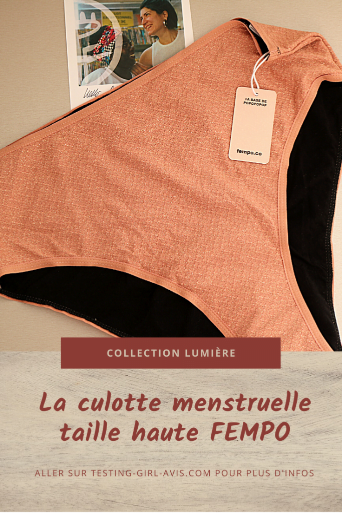 La culotte menstruelle taille haute FEMPO & co  - Testing-Girl-Avis.com Image Pinterest