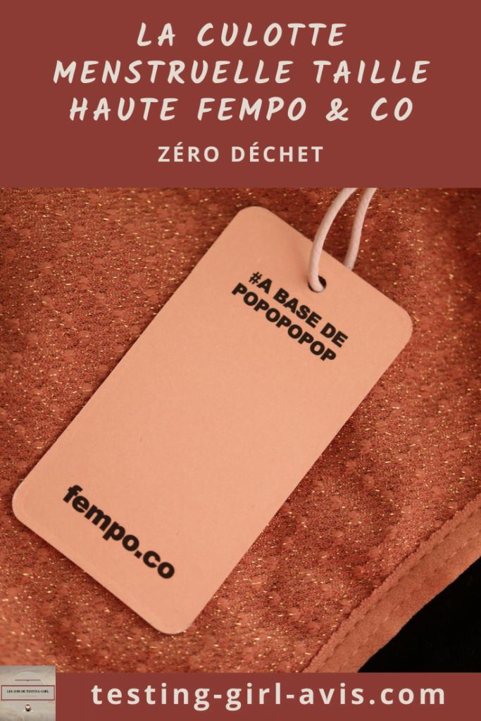 La culotte menstruelle taille haute FEMPO & co pin - Testing-Girl-Avis.com Image Pinterest