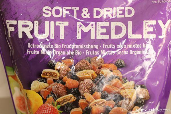 figues, cerises, abricots, fraises séchées