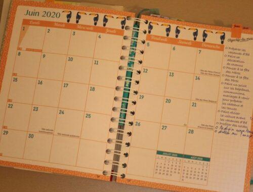 L'agenda familial pour être bien organisé à la maison