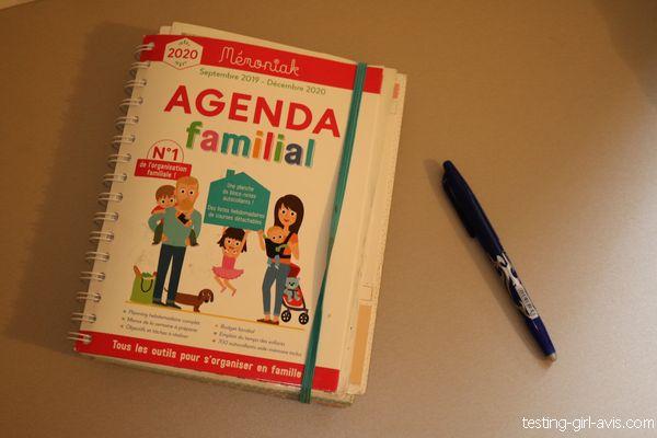 Agenda familial Mémoniak - avis