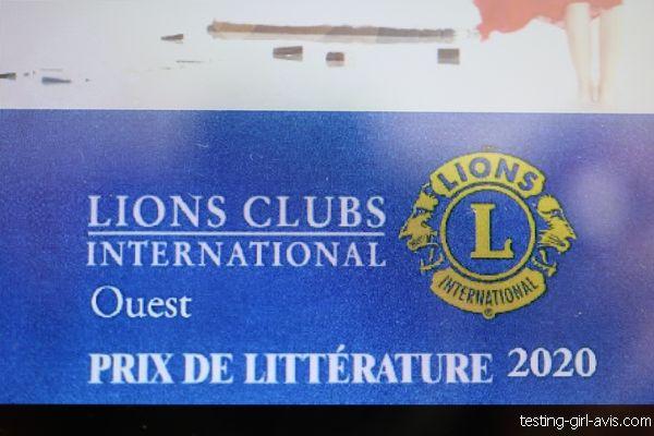 lions clubs inernational ouest prix de littérature 2020