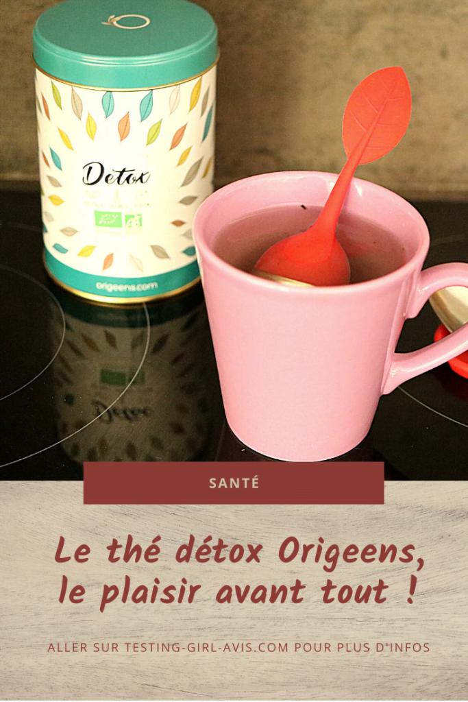 thé détox origeens plaisir Pin
