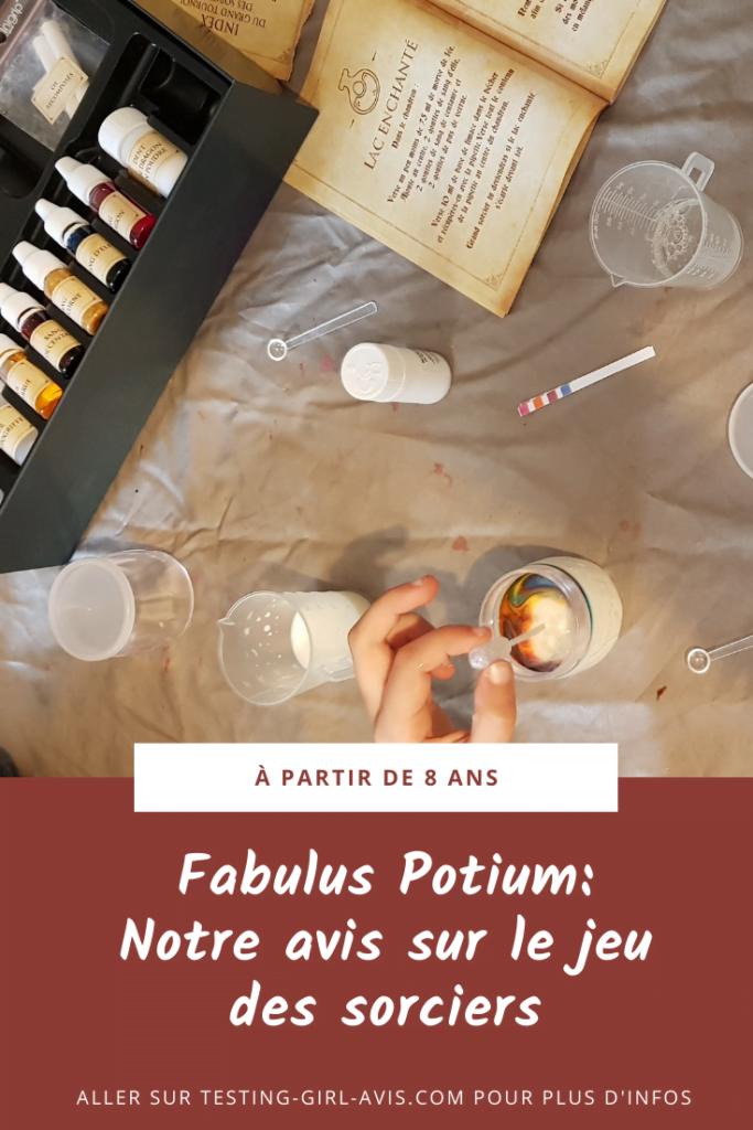 Fabulus Potium: Notre avis sur le jeu des sorciers Pin