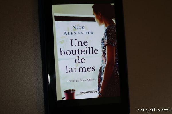 Une bouteille de larmes de Nick Alexander couverture livre